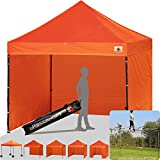 ABCCANOPY 18+colors 8ft by 8ft Ez Pop up Canopy Tent Commercial Instant Gazebos with 4 Removable Sides and Roller Bag and 4x Weight Bag (orange) Review