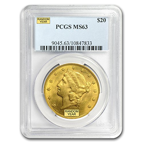 1850 – 1907 $20 Liberty Gold Double Eagle MS-63 PCGS G$20 MS-63 PCGS