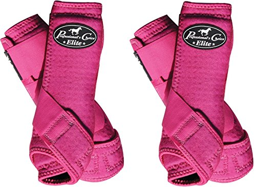 Professional's Choice ♦ VENTECH Elite Equine Sports Medicine Boots Set of 4 Colors (Raspberry, Small)