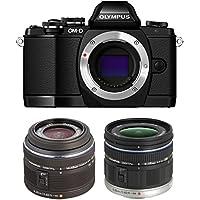 Olympus OM-D E-M10 16MP Mirrorless Digital Camera with 14-42mm F3.5-5.6 Black V207021BU000 + Olympus M ED 9-18mm f/4.0-5.6 for Olympus & Panasonic Micro Four Third Interchangeable Lens Digital Camera