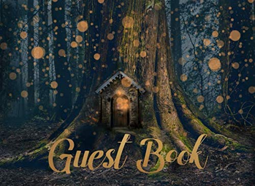 Guest Book: For Enchanted Forest Themed Weddings, Showers, Parties and Celebrations | 250 guests and their notes (Outdoor House Night Lights)