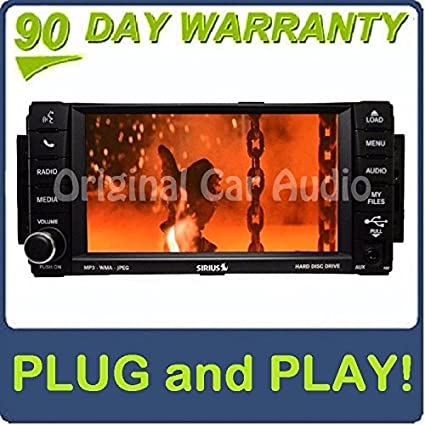 amazon com jeep chrysler dodge carvan rbz sirius dvd mygig radio cd rh amazon com Aftermarket Car Stereo Wiring Harness Dodge Ram 1500 Wiring Harness