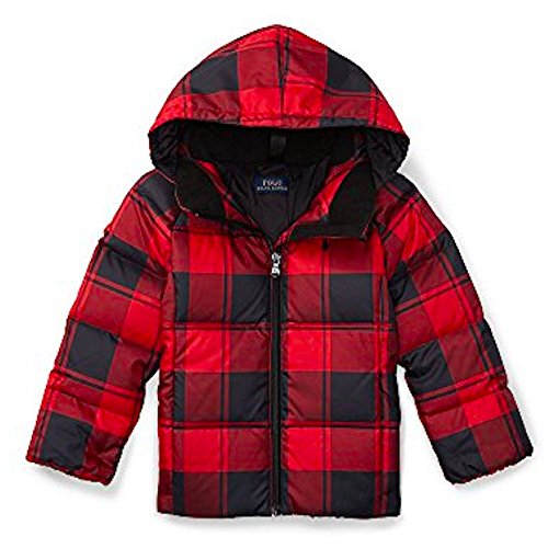 Ralph Lauren QUILTED DOWN HOODED JACKET, 4T by RALPH LAUREN