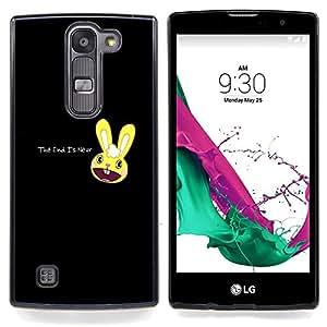 "Qstar Arte & diseño plástico duro Fundas Cover Cubre Hard Case Cover para LG G4c Curve H522Y ( G4 MINI , NOT FOR LG G4 ) (Lindo conejito apocalíptico - El Fin Está Cerca"")"