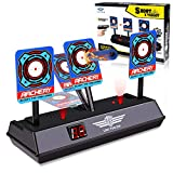 JVIGUE Electronic Digital Target for Nerf Guns N-Strike Elite/Mega/Rival Series - Auto-Reset Intelligent Light Sound Effect Scoring Targets Toys for Boys and Girls