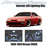 240sx interior parts - XtremeVision Nissan 240SX 1989-1994 (5 Pieces) Cool White Premium Interior LED Kit Package + Installation Tool