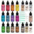 Ranger Tim Holtz Alcohol Pearls Complete Set Bundle (All 12 Colors), Ranger Tim Holtz Alcohol Ink Mixatives (All 7 Colors), 10 Pixiss Precision Ink Blending Tools