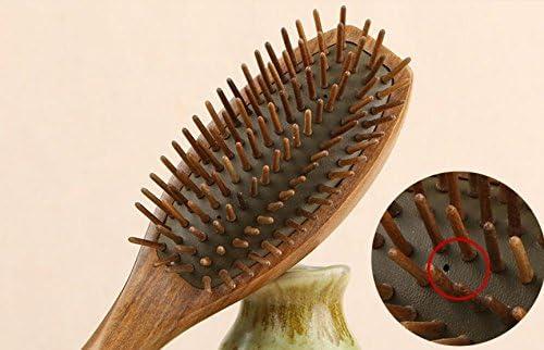 Natural s/ándalo Airbag masaje pelo peine pelo plateado con aroma Natural de la madera 100/% hecha a mano de alta calidad cuero cabelludo Masaje cepillo 1pieza