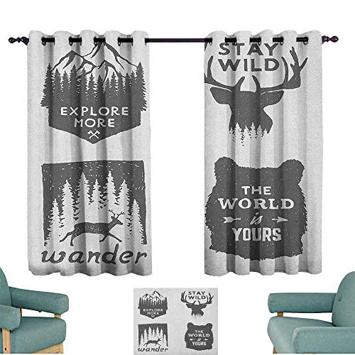 Quotes Exquisite Curtain Wilderness Emblems Stay Wild Wander The World is Your Arrow Pine Wildlife Animals Privacy Protection 63