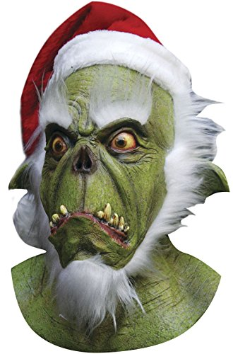 [Mememall Fashion Christmas Green Grinch Santa Adult Full Mask] (Girl Grinch Costume)