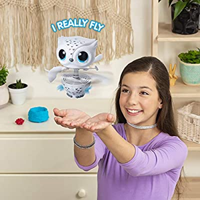 Owleez, Flying Baby Owl Interactive Toy with Lights and Sounds (White), for Kids Aged 6 and Up (6054589): Toys & Games