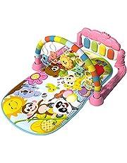 BNNEW Baby gym play mat aktivitetscentrum, baby game pad fitness rack krypmatta med hängande leksak, kick och spela piano musikleksak för 0 till 3 6 9 12 månader