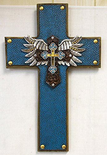 Angle Wings Blue Cross with Mirrored Tiles and ()