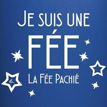 bleu royal Spreadshirt Je Suis La F/ée Pachi/é Tasse Mug