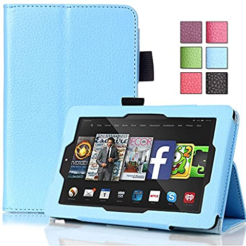 Pasonomi® Amazon Kindle Fire HD 6 Case - Premium Slim PU Leather Folding Cover Case for Amazon Kindle Fire HD 6 Inch 2014 Tablet with Auto Sleep/Wake Feature (Kindle 6 Cases For Kids)