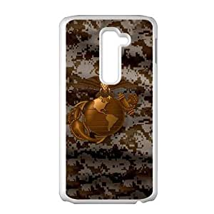 LG G2 Cell Phone Case White Gold Earth Marine Camo LSO7729998