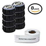 """Dymo Compatible 30327 - 9/16"""" x 3-7/16"""" White 1-up File Folder Labels (8 Rolls - 130 Labels Per Roll)"""