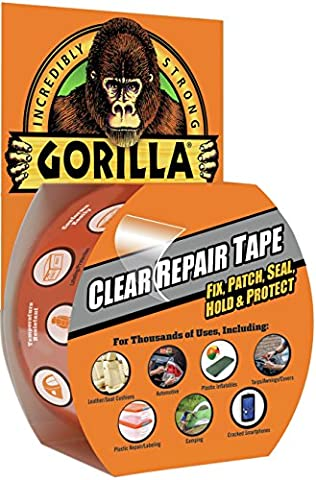 Gorilla Clear Repair Duct Tape, 1.88