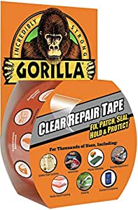 "Gorilla Clear Repair Duct Tape, 1.88"" x 9 yd., Clear"