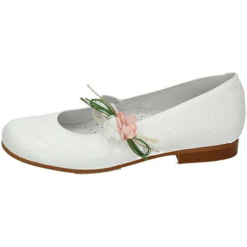 f99b21a9ba5 BAMBINELLI 1314035 COMUNIÓN BAMBI SHOES NIÑA ZAPATO COMUNIÓN BLANCO 35   Amazon.es  Zapatos y complementos