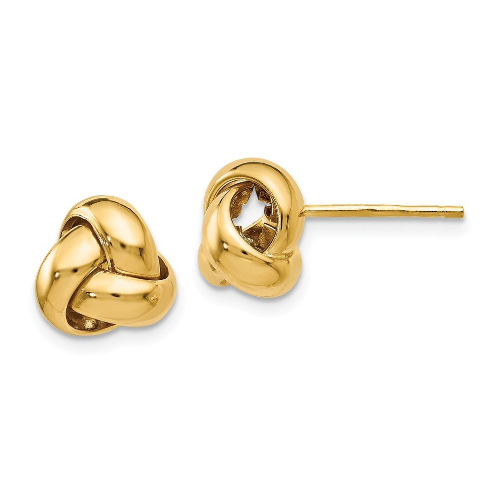 Q Gold Leslies 14k Polished Love Knot Earrings