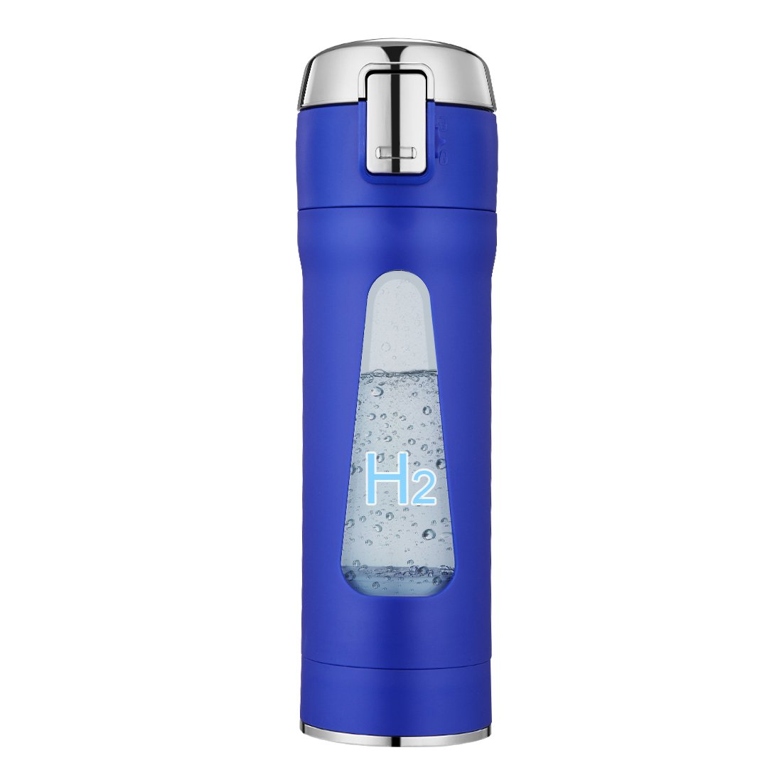 Alkaline Hydrogen Water Maker Machine with hydrogen-enriched tile Portable Sports Quantum Travel Water Bottle Make Hydrogen Content Up to 800-1200 PPB Insulated against hot (Blue-new)