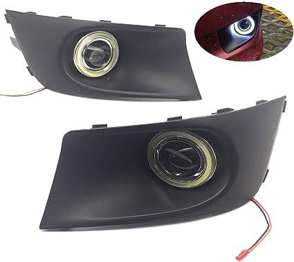 eeMrke EE-2015Y02-AE5167 Auto Angel Eyes Tagfahrlicht Halogen Nebelscheinwerfer Kits f/ür TY Land Cruiser J15 2009-2013