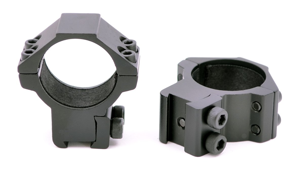 Hammers Medium Height 30mm Scope Ring Set with Stop Pin for High Power Magnum Airguns Air Rifles by Hammers