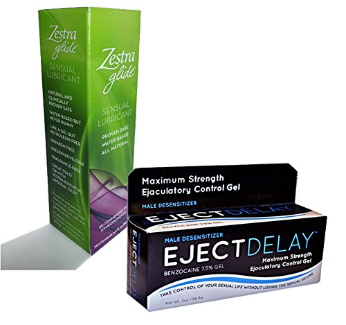 Chistmas Gift Set Zestra Glide Sensual Lubricant and Eject Delay Male Desensitizer