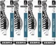 Value Pack of 4 - Zebra(R) Ballpoint F-Refills For F-301 Ultra,F-301 Pen, F-301 Compact, F-402 Pen, Fine Point, 0.7 mm, Black, 4 Pack = 8 refills