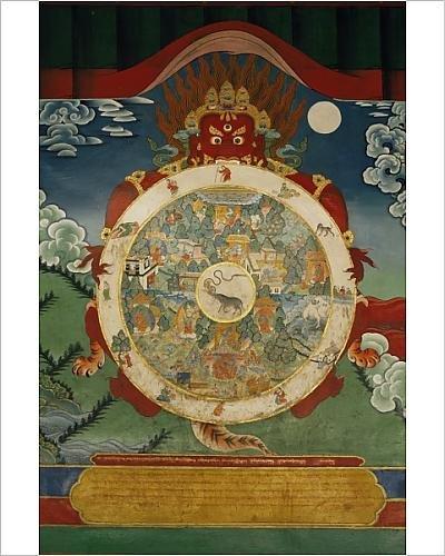 Photographic Print of Wheel of Life, Tibetan Art, China, Asia