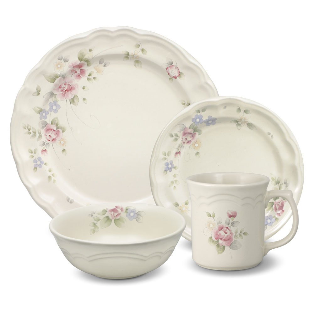 Pfaltzgraff Tea Rose 32 Piece Dinnerware Set, Service for 8