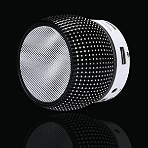 Creazy Bluetooth Wireless Speaker Mini Portable Super Bass For iPhone PC Tablet (Black)