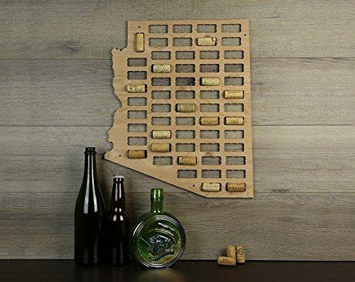 WenNuNa Wine Cork Traps State of Arizona Wine Cork Decorative Wooden Organizer Cork Holder (Holder Wooden Cork Wine)