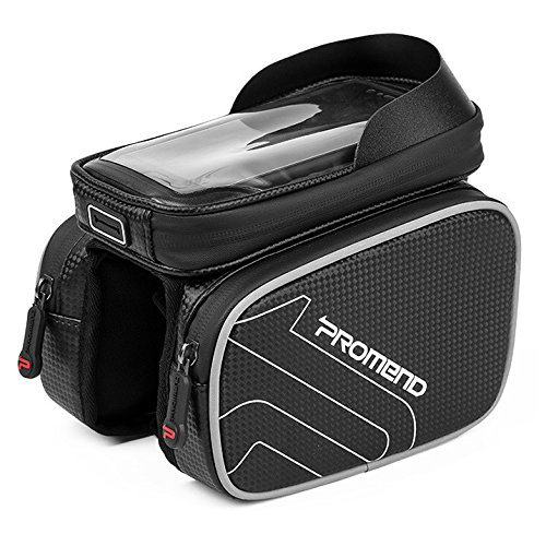 ShopSquare64 PROMEND SGB14E38 6.2 inch Waterproof Touch Screen MTB Bicycle Bag Reflective Frame Top Tube Phone B