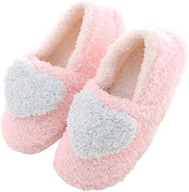 Women/'s Bed House Slippers Knit Indoor Outdoor Washable Cushioned Hooded Back