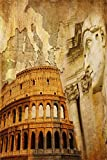 AOFOTO 5x7ft Photography Studio Backdrops Girl Toddler Photo Shoot Background Italy Ancient Roman Colosseum Caesar Sculpture Adult Artistic Portrait Digital Video Props European Travel Vacation Scene