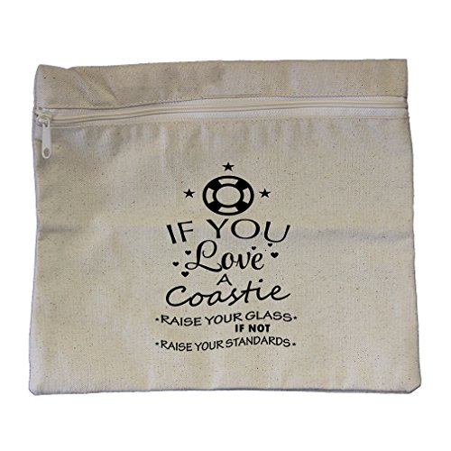 If You Love A Coastie Canvas Zippered Pouch Makeup Bag