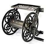 Liberty Garden Products 708 Steel Decorative Wall Mount Garden Hose Reel, Holds 125-Feet