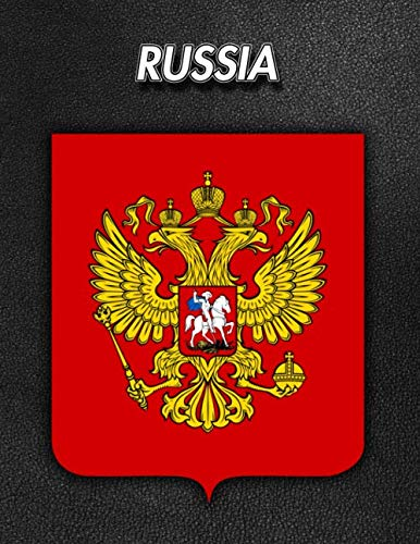 - Russia: Coat of Arms | Blank Sheet Music | 150 pages 8.5 x 11 in. | 12 Staves Per Page | Music Staff | Composition | Notation | Songwriting | Staff | Manuscript