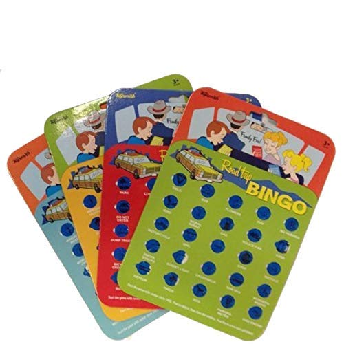 Toysmith 9173 Road Trip Bingo Assorted Colors, 4 cards.