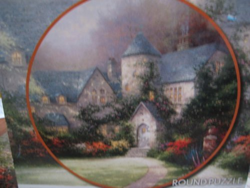 Thomas Kinkade Painter of Light, Beyond Autumn Gate Round Puzzle ()