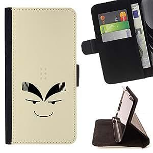 BullDog Case - FOR/Samsung Galaxy S4 IV I9500 / - / Funny Face /- Monedero de cuero de la PU Llevar cubierta de la caja con el ID Credit Card Slots Flip funda de cuer