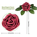 TOPHOUSE-60pcs-Artificial-Flowers-Roses-Real-Touch-Fake-Roses-for-DIY-Wedding-Bouquets-Bridal-Shower-Party-Home-Decorations-Gradient-Red