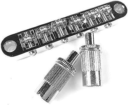 Locking Roller Bridge Tune o Matic mit Post Silber für Les Paul Guitar