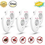 NEW 2018 Ultrasonic Pest Repellent (6-Pack)[UPGRADED] Electronic & Ultrasound Control in Effective Expulsion Control Mosquito, Roach, Mice, Spider, Ant, Rodent,Bedbugs