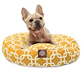 Yellow Links Small Round Indoor Outdoor Pet Dog Bed With Removable Washable Cover By Majestic Pet Products