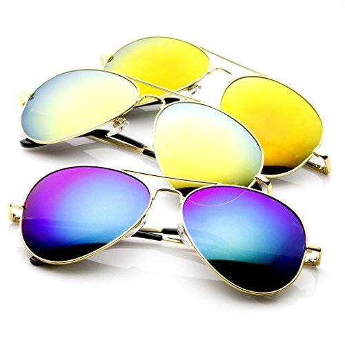 SWG EYEWEAR® Gold Aviator Reflective Mirror Sunglasses UV400 Summer - Tomford Eyewear