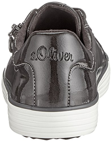 Sneakers Patent Grey Low Women's Top 213 21 23615 s Oliver Grey YqznO