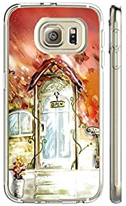S6 case-NBcase Cartoon Squirrel with Star Hard PC case for samsung galaxy S6 purple